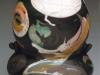 Raku vessel, swirl series