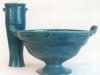 Blue Vase and Footed Bowl