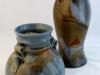 Blue Amber Vases